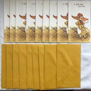 """VTG """"A Little Note From Fran"""" 9 cards + envelopes"""